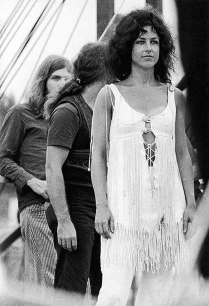 Grace Slick of Jefferson Airplane Performing at Woodstock