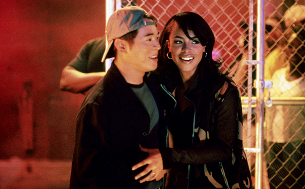 Aaliyah With Jet Li Filming Romeo Must Die in 1999