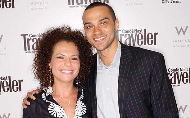 Jesse Williams and Sanaa Hamri in Los Angeles on May 7, 2008