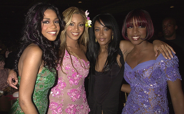 Aaliyah With Michelle Williams, Beyonce, and Kelly Rowland of Destiny's Child at the MTV Movie Awards on June 2, 2001