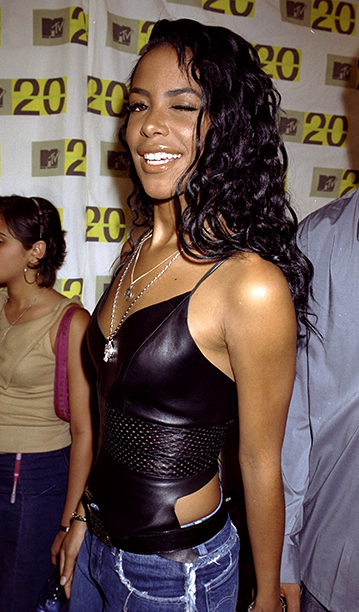 Aaliyah at the MTV 20: Live And Almost Legal 20th Birthday Bash on August 1, 2001