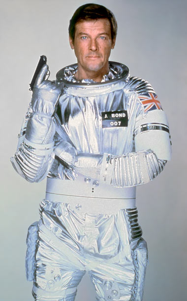 Roger Moore, Moonraker | James Bond has gone everywhere else, why not send him into space? In 1979?s Moonraker , Bond (Roger Moore) took international espionage intergalactic in a…