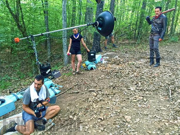 Behind the scenes of EW's Jeffrey Dean Morgan photo shoot