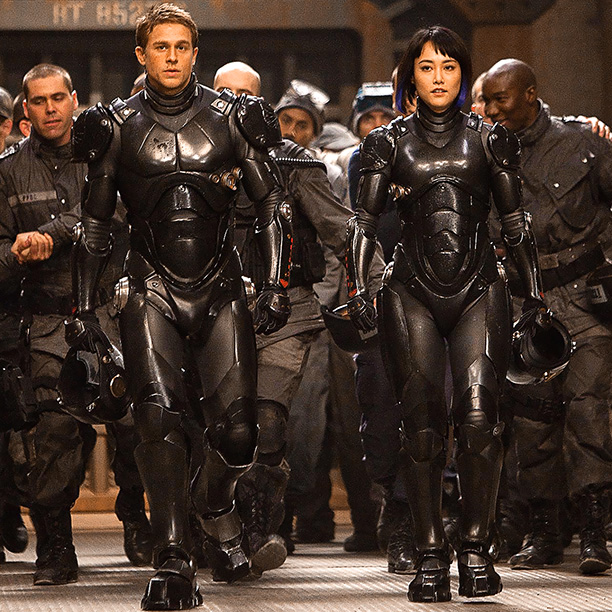 Rinko Kikuchi, Charlie Hunnam, ... | Director Guillermo del Toro's alien-versus-humans action flick took visual cues from old Godzilla films and artist Francisco Goya's ''Colossus'' painting, but the look of the…