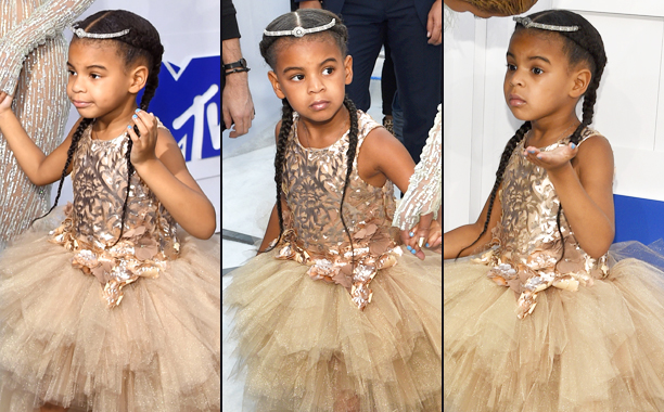 Blue Ivy Carter Takes the VMA White Carpet by Storm