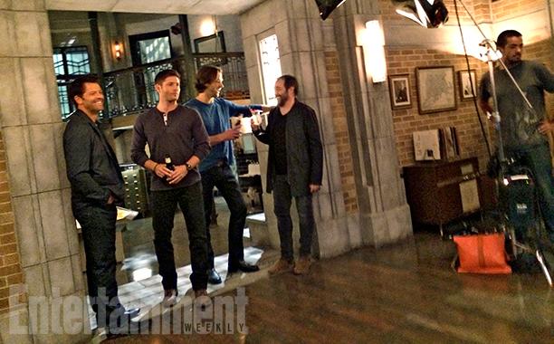 Misha Collins, Jensen Ackles, Jared Padalecki, Mark Sheppard