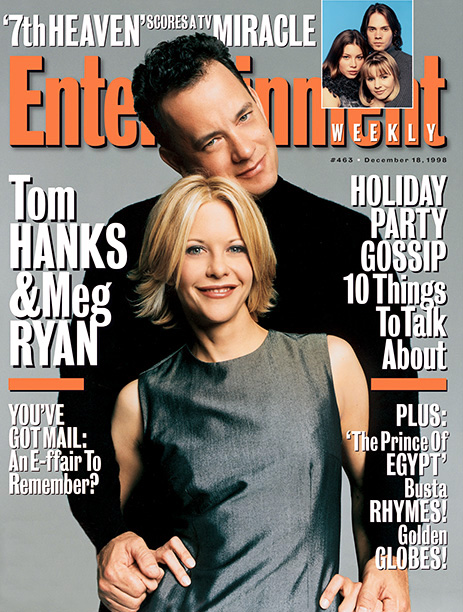 Tom Hanks and Meg Ryan on the Cover of the December 18, 1998 Issue of Entertainment Weekly