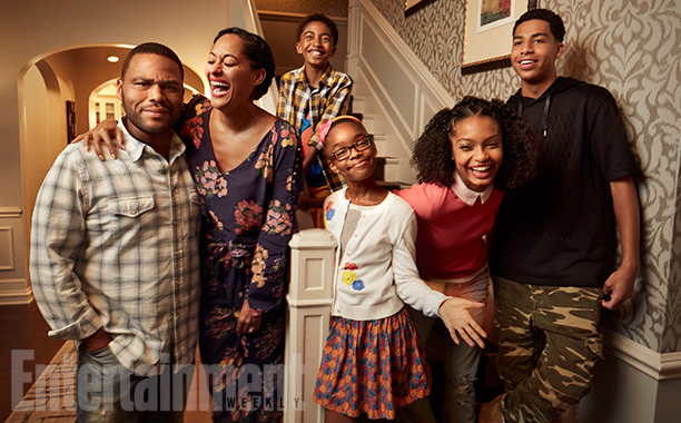 Anthony Anderson, Tracee Ellis Ross, Miles Brown, Marsai Martin, Yara Shahidi, and Marcus Scribner