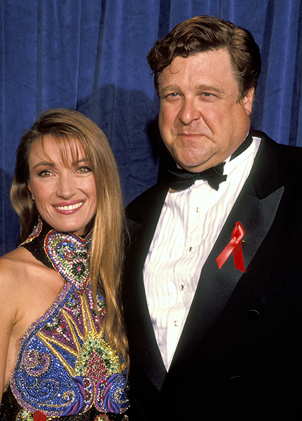 Jane Seymour and Outstanding Lead Actor in a Comedy Series Nominee John Goodman (Roseanne)