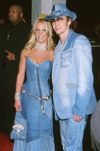 2001: The AMAs red carpet, With Justin Timberlake