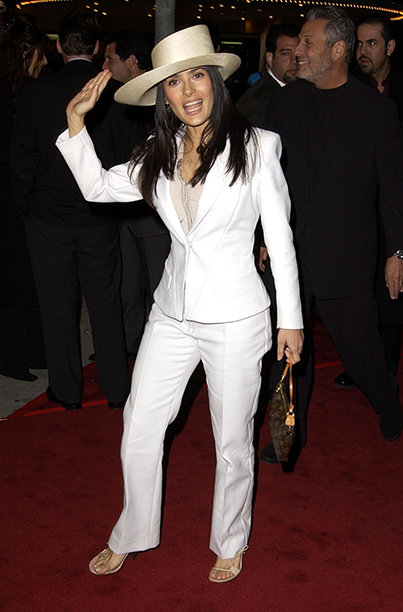 Salma Hayek at the Collateral Damage Los Angeles Premiere on February 4, 2002