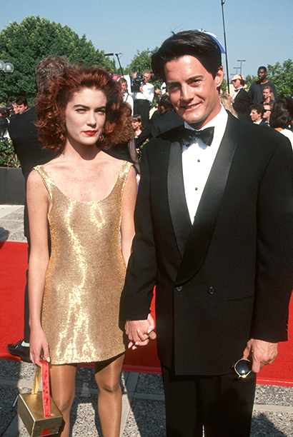Lara Flynn Boyle and Outstanding Lead Actor in a Drama Series Nominee Kyle MacLachlan (Twin Peaks)
