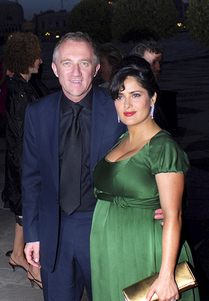 Salma Hayek With François-Henri Pinault in Italy on June 8, 2007