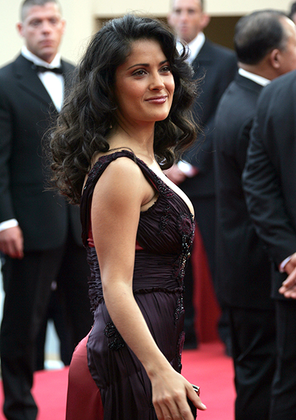 Salma Hayek at the 2005 Cannes Film Festival on May 11, 2005