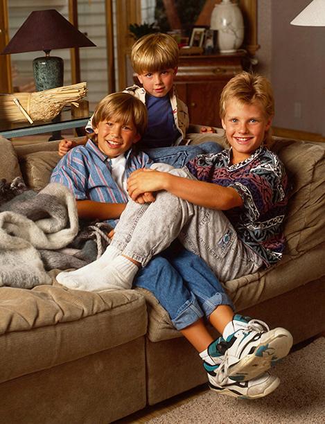 Jonathan Taylor Thomas With Taran Noah Smith and Zachery Ty Bryan on Home Improvement on July 19, 1991