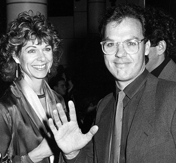 Michael Keaton With Caroline McWilliams at the Premiere Party for Johnny Dangerously in New York City on December 18, 1984