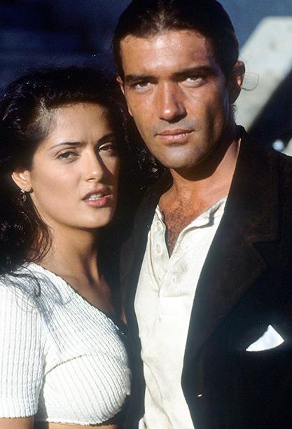 Salma Hayek With Antonio Banderas in Desperado in 1995