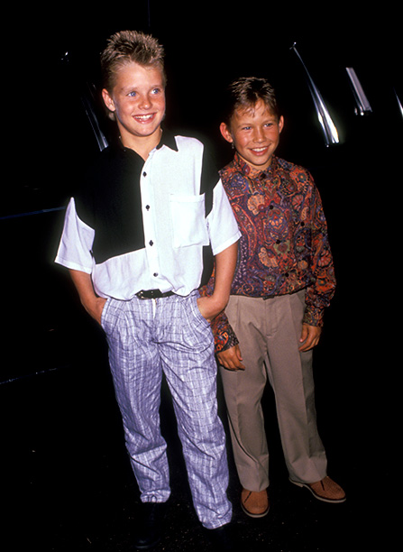 Jonathan Taylor Thomas With Zachery Ty Bryan at the ABC Television Fall Season Kick-Off Party in Los Angeles on September 11, 1991