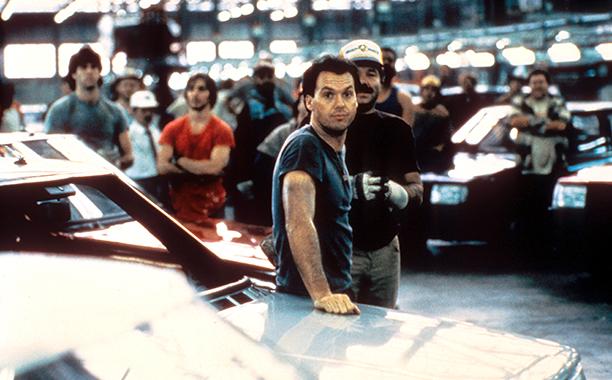 Michael Keaton in Gung Ho in 1986