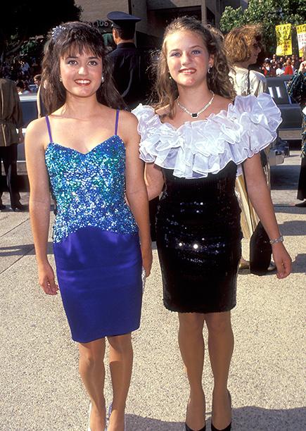 Danica McKellar and Crystal McKellar