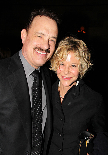 Tom Hanks and Meg Ryan at the Opening Night Party for Broadway's Lucky Guy on April 1, 2013