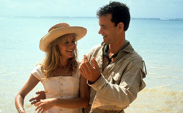 Meg Ryan and Tom Hanks in Joe Versus The Volcano in 1990