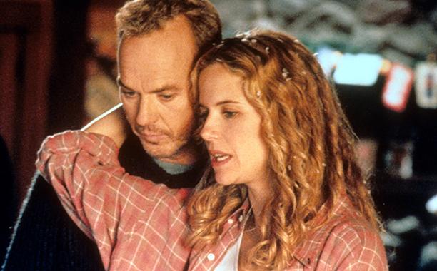 Michael Keaton With Kelly Preston in Jack Frost in 1998