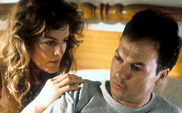 Michael Keaton With Rene Russo in One Good Cop in 1991
