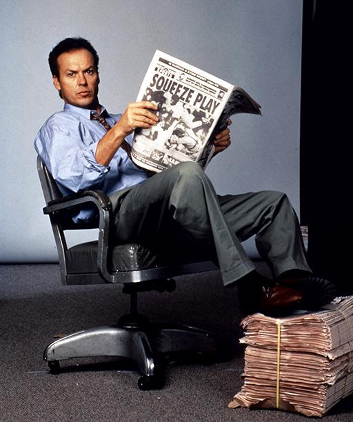 Michael Keaton in The Paper in 1994