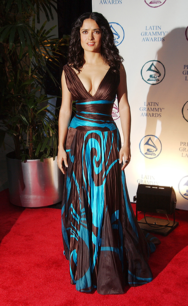 Salma Hayek at the Latin Recording Academy Person of the Year Tribute Event for Carlos Santana on August 30, 2004