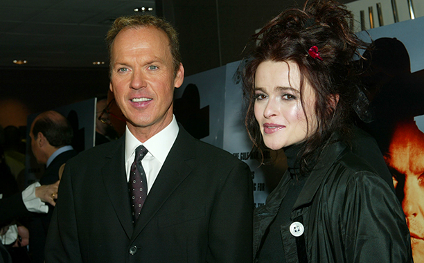 Michael Keaton With Helena Bonham Carter at the Live From Baghdad New York Premiere on November 18, 2002