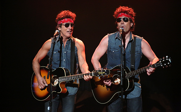 Bruce Springsteen With Jimmy Fallon Performing on Late Night with Jimmy Fallon on January 14, 2014