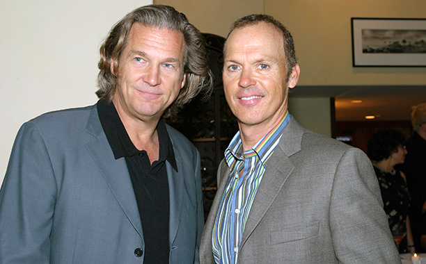 Michael Keaton With Jeff Bridges at the Santa Barbara International Film Festival on June 13, 2004