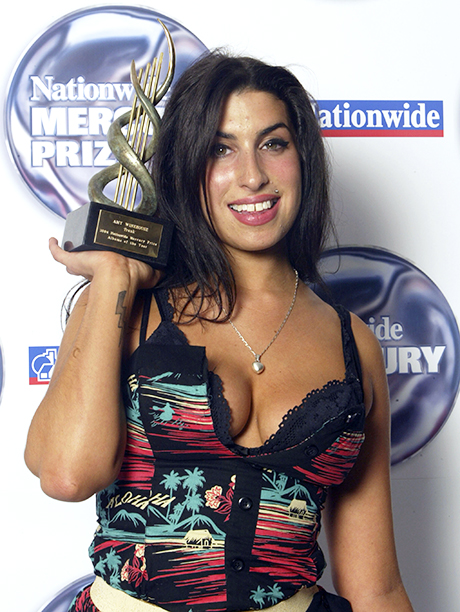 Amy Winehouse at the Annual Nationwide Mercury Music Prize Presentation at the Grosvenor House in London on September 7, 2004