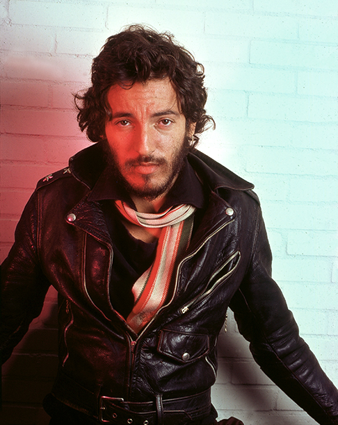 Bruce Springsteen Backstage at Hammersmith Odeon in London on November 18, 1975