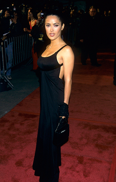 Salma Hayek at the GQ Man of the Year Awards on October 21, 1999