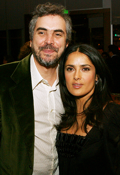 Salma Hayek With Alfonso Cuaron at the Children of Men Afterparty in Los Angeles on November 16, 2006