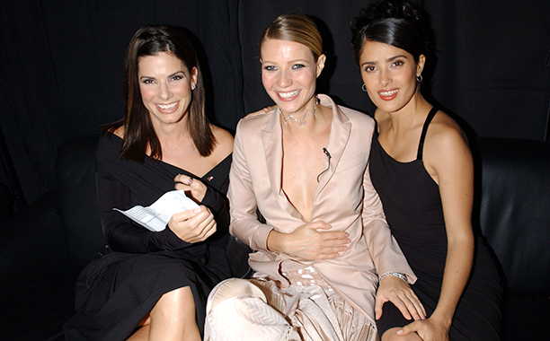 Salma Hayek With Sandra Bullock and Gwyneth Paltrow at the 2001 VH1/Vogue Fashion Awards on October 19, 2001