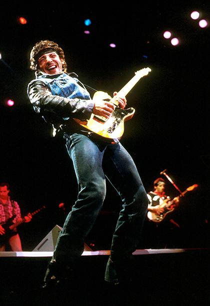 Bruce Springsteen in Los Angeles on November 26, 1985
