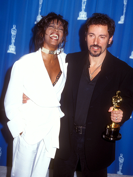 Bruce Springsteen With Whitney Houston at the 66th Annual Academy Awards on March 21, 1994