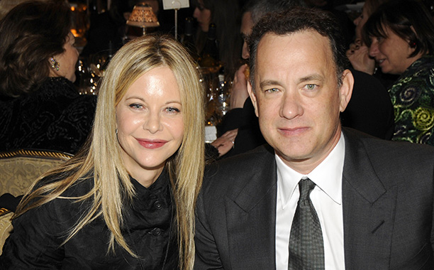 Meg Ryan and Tom Hanks at the 23rd Annual Rock and Roll Hall of Fame Induction Ceremony in New York City on March 10, 2008