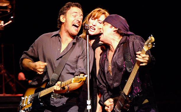 Bruce Springsteen, Patti Scialfa, and Steven Van Zandt Performing on The Rising Tour in New Jersey on August 7, 2002