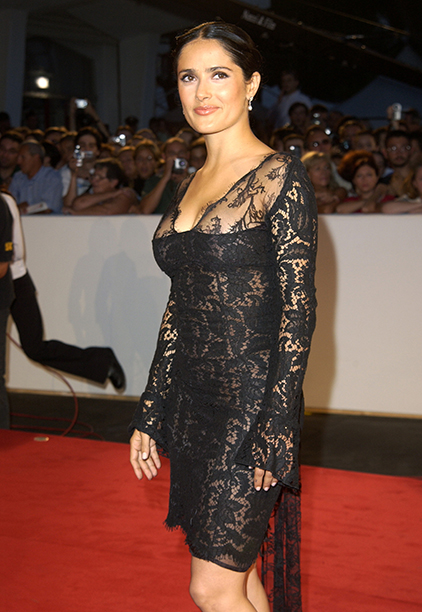 Salma Hayek at the Venice Film Festival on August 29, 2002