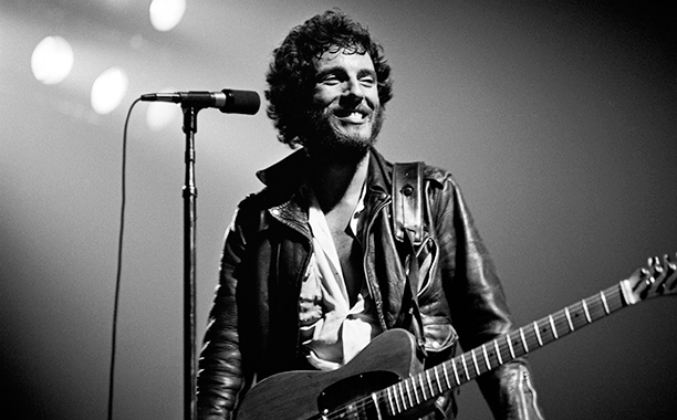 Bruce Springsteen on the Born to Run Tour in October 1975