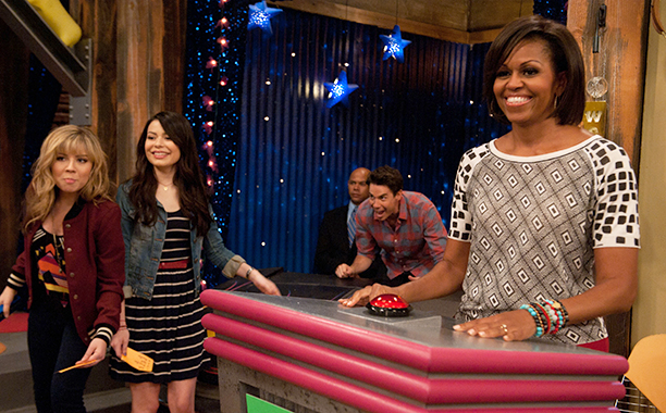 Michelle Obama on iCarly in 2011