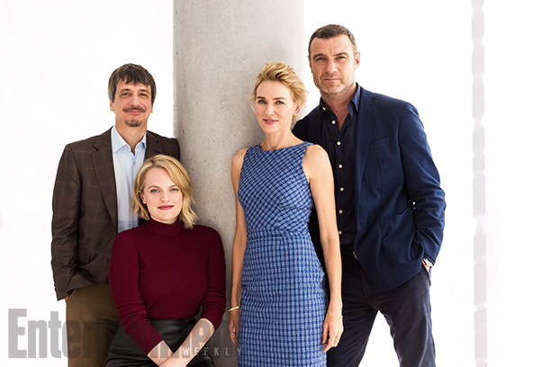 Philippe Falardeau (director), Elisabeth Moss, Naomi Watts, and Liev Schreiber, The Bleeder