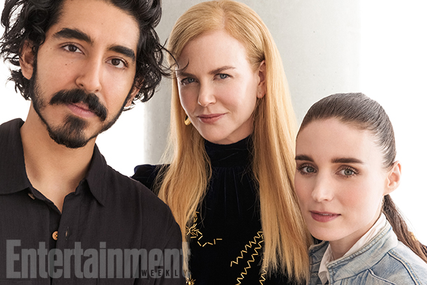 Dev Patel, Nicole Kidman, and Rooney Mara, Lion