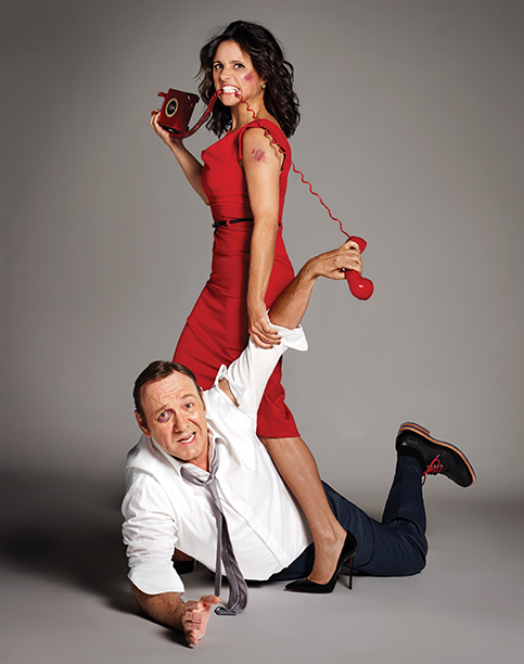 Kevin Spacey and Julia Louis-Dreyfus