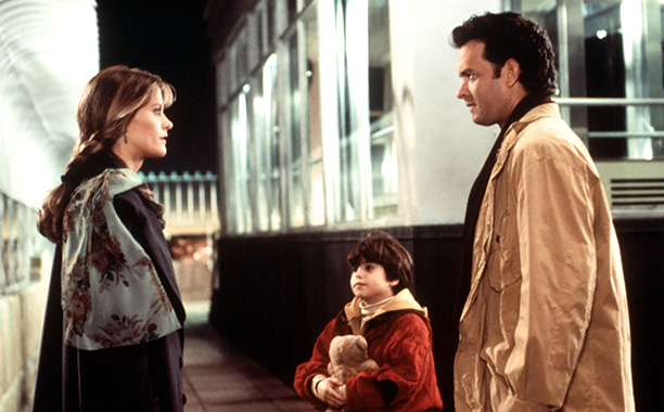 Meg Ryan and Tom Hanks in Sleepless in Seattle in 1993
