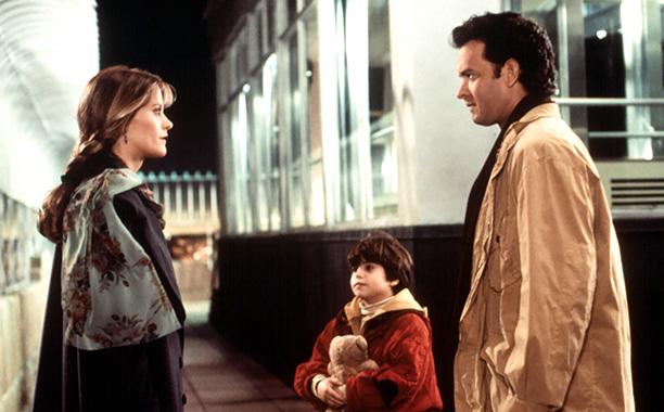 Meg Ryan and Tom Hanks in Sleepless in Seattle in 1993